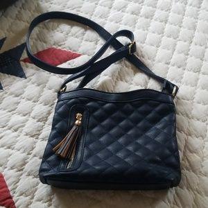 Cute blue crossbody purse